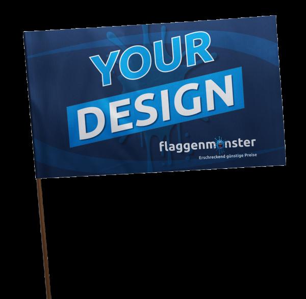 Schwenkfahnen / Vereinsfahnen / Fanfahnen mit Logo
