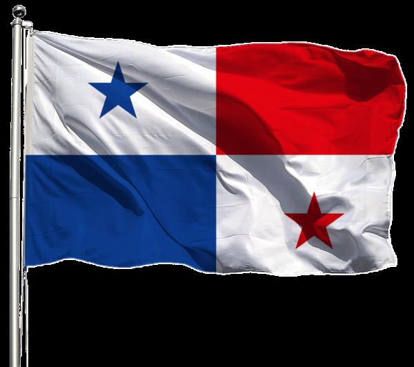 Panama Flagge Querformat Premium-Qualität