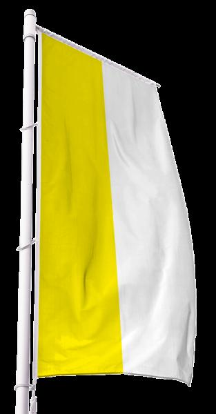 Katholische Kirchenfahne im Hochformat Premium