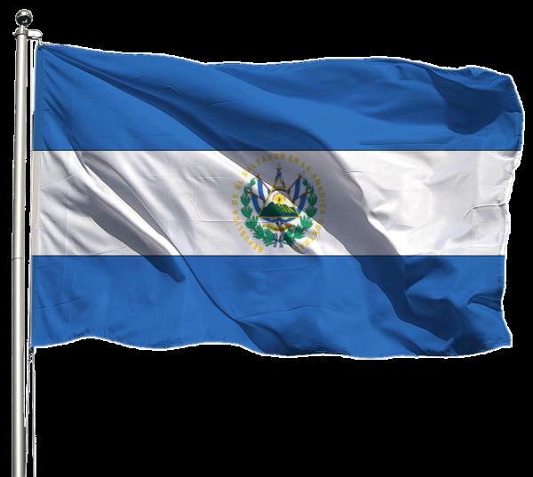 El Salvador Flagge Querformat Premium-Qualität