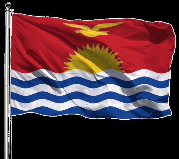Kiribati Flagge Querformat Premium-Qualität