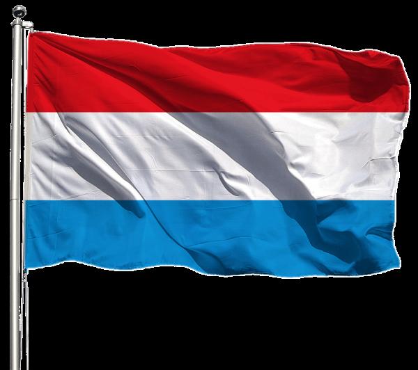 Luxemburg Flagge Querformat Premium-Qualität