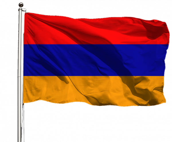 Armenien Flagge Querformat Premium-Qualität