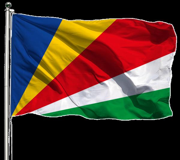 Seychellen Flagge Querformat Premium-Qualität