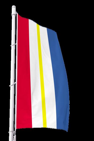 Flagge Mecklenburg-Vorpommern ohne Wappen im Hochformat Premium