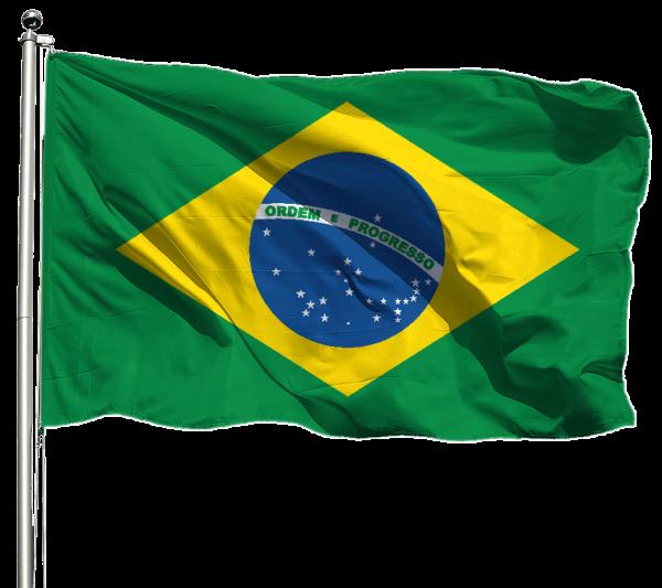 Brasilien Flagge Querformat Premium-Qualität