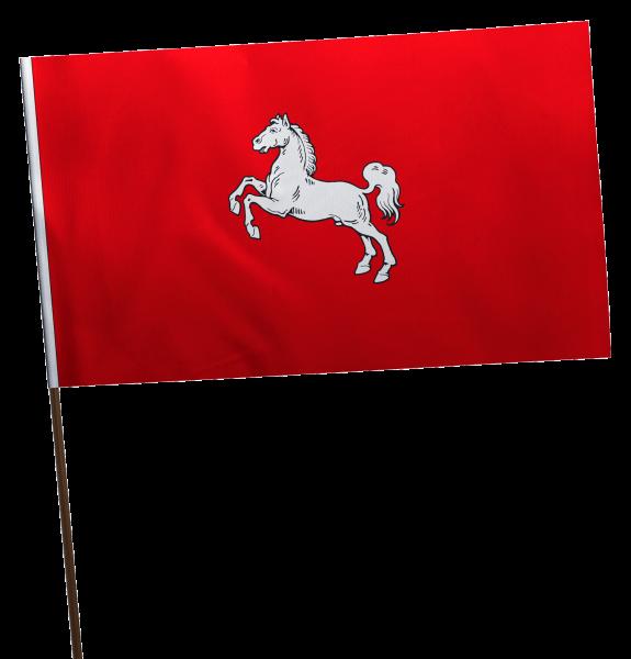 Stockflagge Niedersachsen Bürgerwappen Premium-Qualität