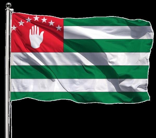 Abchasien Flagge Querformat Premium-Qualität