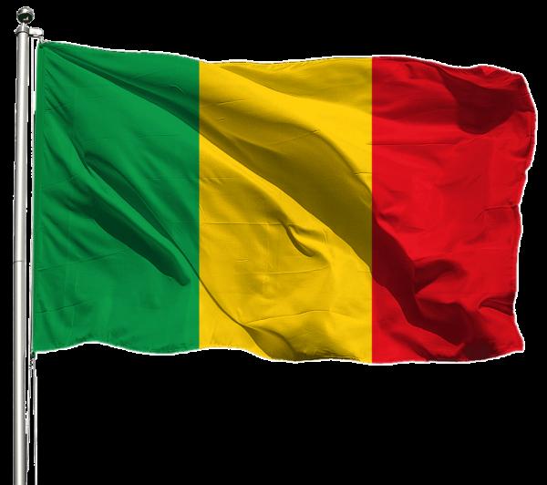 Mali Flagge Querformat Premium-Qualität