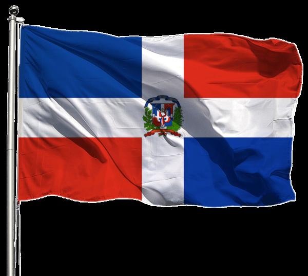 Dominikanische Republik Flagge Querformat Premium-Qualität