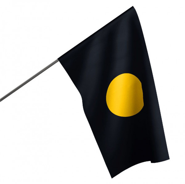 Motorsportflagge SCHWARZ-ORANGE