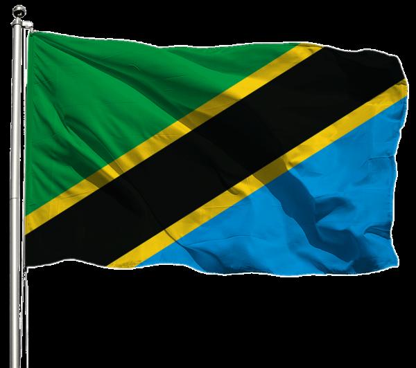 Tansania Flagge Querformat Premium-Qualität