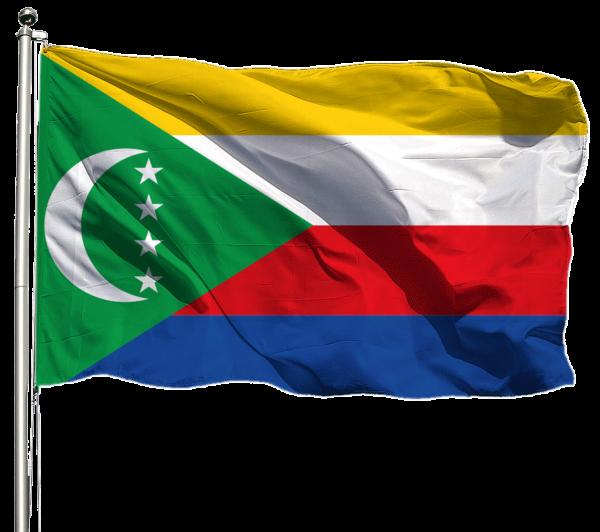 Komoren Flagge Querformat Premium-Qualität