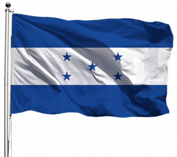 Honduras Flagge Querformat Premium-Qualität