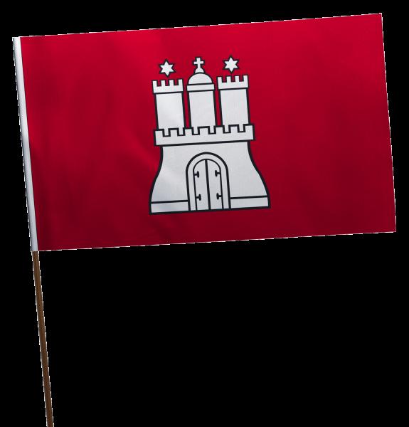 Stockflagge Hamburg Premium-Qualität