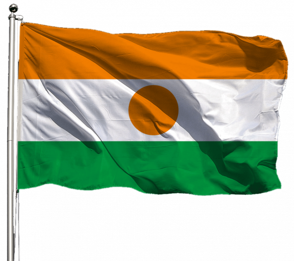 Niger Flagge Querformat Premium-Qualität