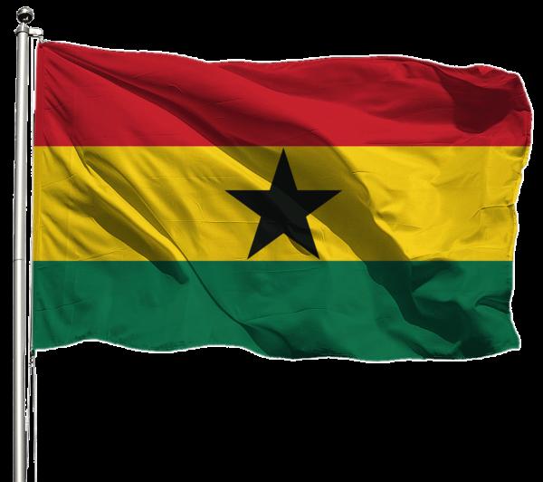 Ghana Flagge Querformat Premium-Qualität