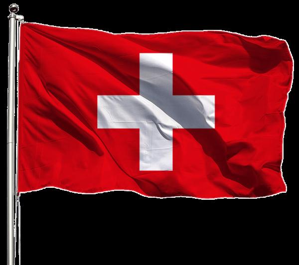 Schweiz Flagge Querformat Premium-Qualität