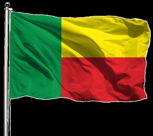 Benin Flagge Querformat Premium-Qualität