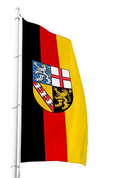 Flagge Saarland im Hochformat Premium