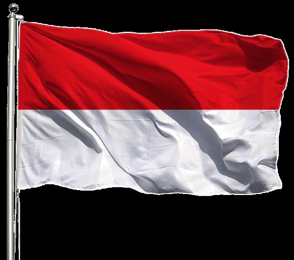Indonesien Flagge Querformat Premium-Qualität