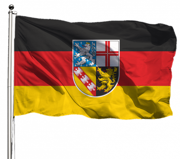 Flagge Saarland Querformat Premium-Qualität