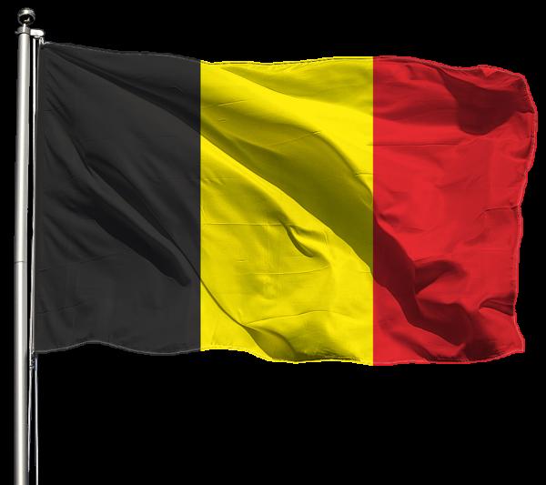 Belgien Flagge Querformat Premium-Qualität