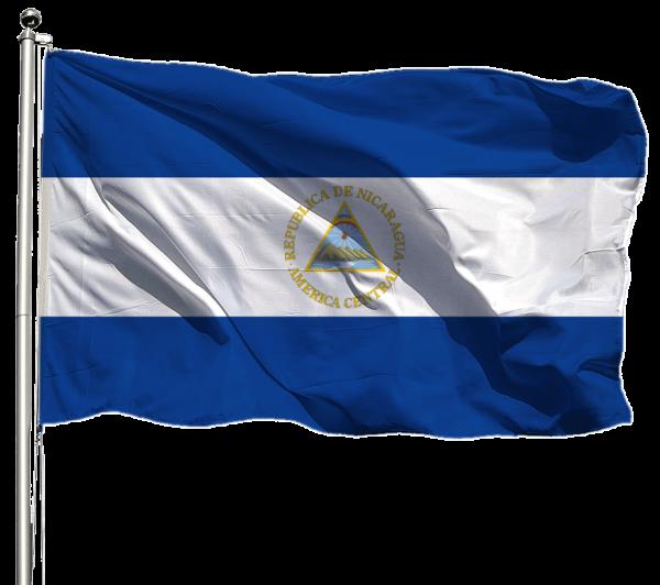 Nicaragua Flagge Querformat Premium-Qualität