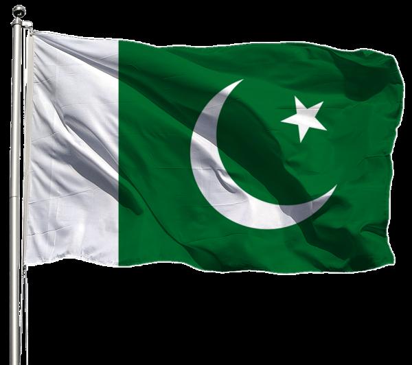 Pakistan Flagge Querformat Premium-Qualität