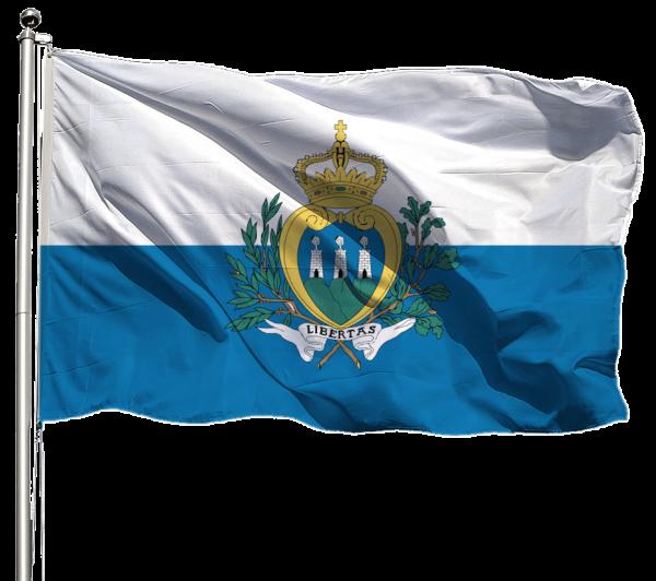 San Marino Flagge Querformat Premium-Qualität