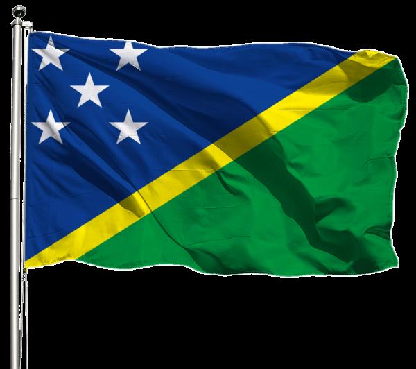 Salomonen Flagge Querformat Premium-Qualität