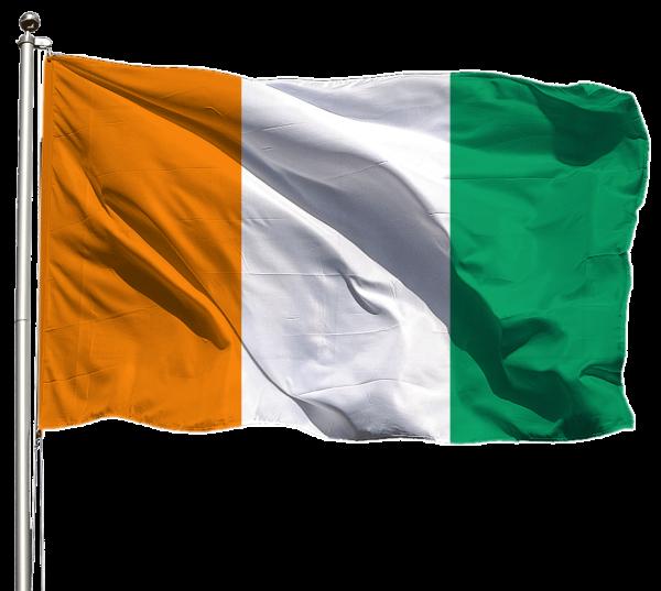 Elfenbeinküste Flagge Querformat Premium-Qualität