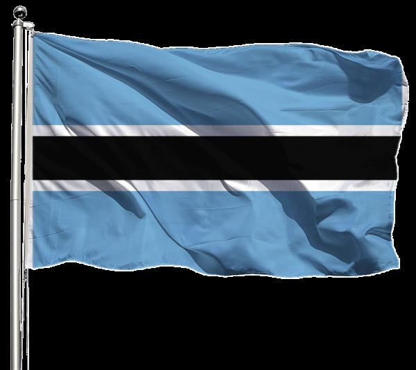 Botswana Flagge Querformat Premium-Qualität