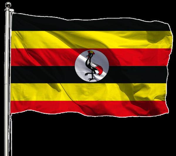Uganda Flagge Querformat Premium-Qualität
