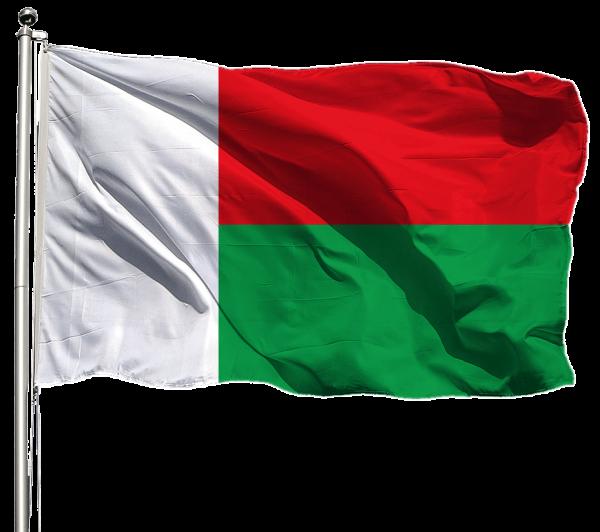 Madagaskar Flagge Querformat Premium-Qualität