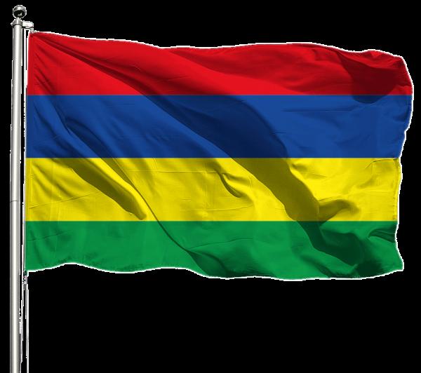 Mauritius Flagge Querformat Premium-Qualität