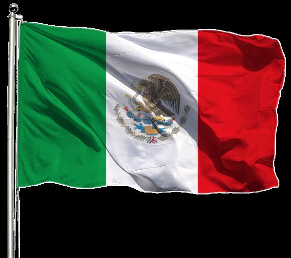 Mexiko Flagge Querformat Premium-Qualität