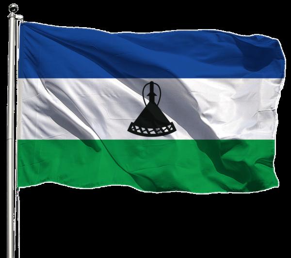 Lesotho Flagge Querformat Premium-Qualität