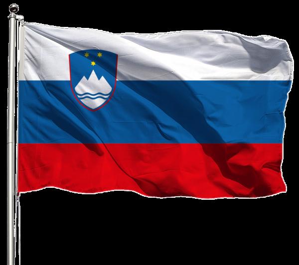 Slowenien Flagge Querformat Premium-Qualität