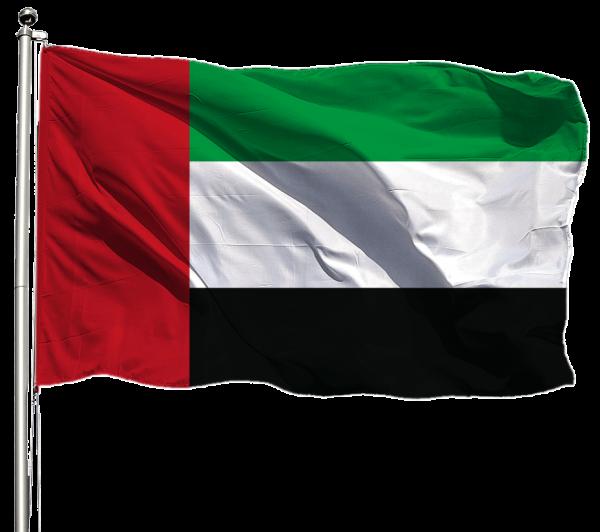 Vereinigte Arabische Emirate Flagge Querformat Premium-Qualität