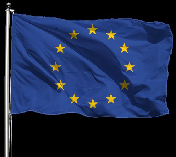 Europa Flagge Querformat Premium-Qualität