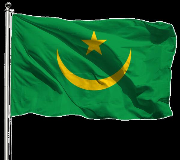 Mauretanien Flagge Querformat Premium-Qualität