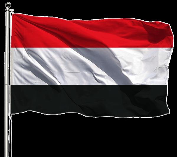 Jemen Flagge Querformat Premium-Qualität