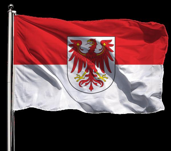 Flagge Brandenburg mit Wappen Querformat Premium-Qualität