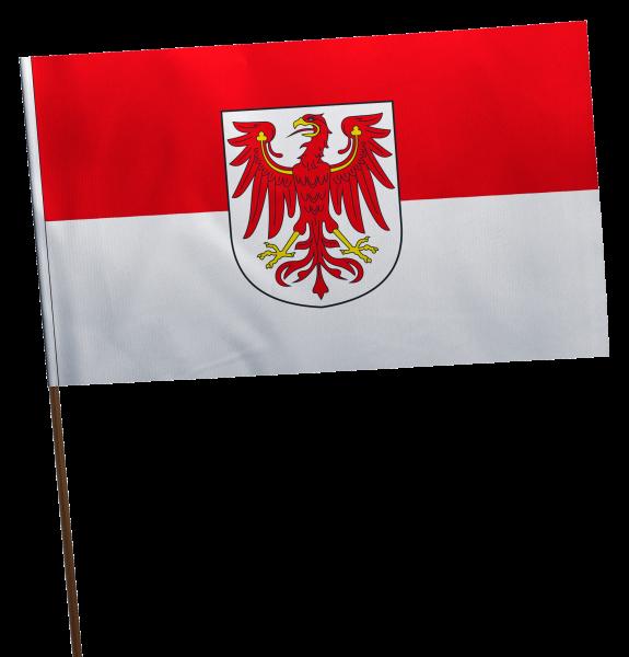 Stockflagge Brandenburg Premium-Qualität