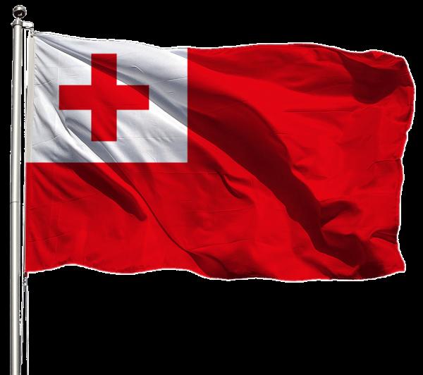 Tonga Flagge Querformat Premium-Qualität