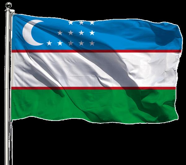 Usbekistan Flagge Querformat Premium-Qualität