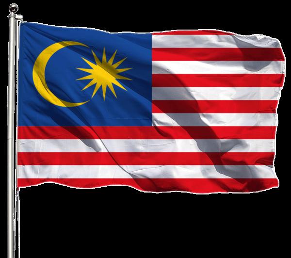 Malaysia Flagge Querformat Premium-Qualität