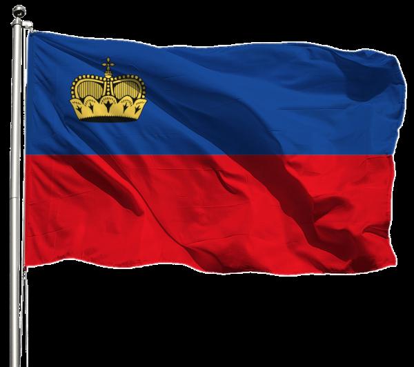 Liechtenstein Flagge Querformat Premium-Qualität