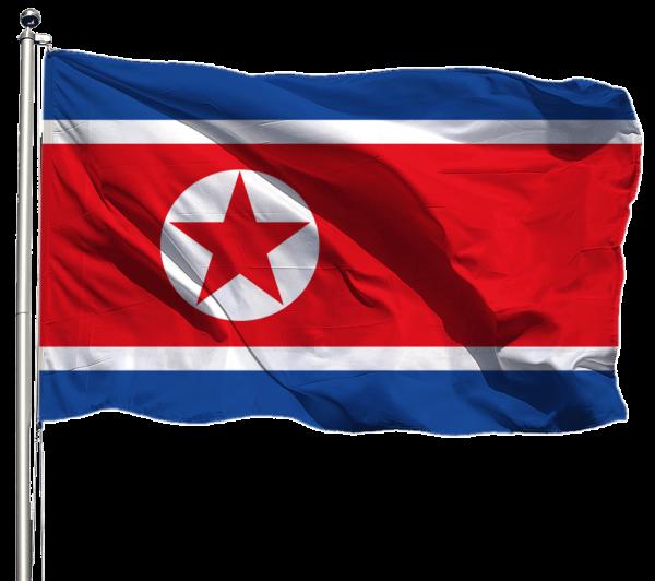Nordkorea Flagge Querformat Premium-Qualität